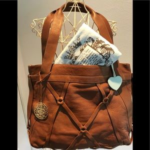 EUC Authentic Juicy Couture Brown Leather Handbag